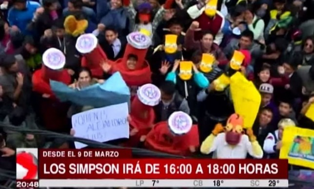 Simpsons protest